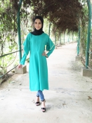 Jets Emerald Green Exclusive Blouse Tunic Kurti