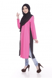 Jelita Tunic Exclusive Muslimah Blouse Zip