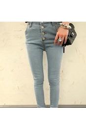 Korean Summer Retro Skinny Jeans