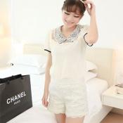 Korean Summer & Spring Casual Short Lace Pants