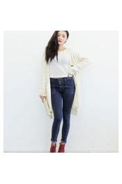 Korean Summer & Spring Retro Women Jeans Long Pants