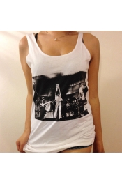 Retro 80's Rocker Live Band Printed Casual Tank Tops Vest