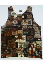 Retro Art Pattern Casual Vest Singlet Tops