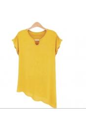 Korean Summer Plus Size Tops Casual Wear