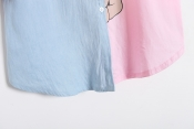 Korean Summer Pink Panther Printed Casual Loose Tops Exclusive