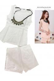 Korean Summer Modern Tops+Pants Exclusive (Free Necklace)