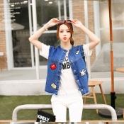 Korean Summer Retro Funny Jacket Tops