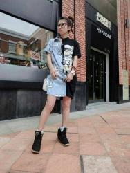 Korean Summer Teddy Bear Printed Casual Tops