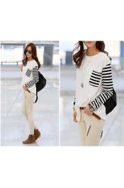 Korean Autumn Stripes sleeve Design Top