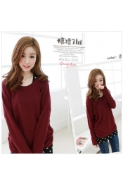 Korean Autumn Heart Long Sleeve Casual Top