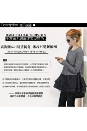 Korean Autumn Long Sleeve Casual Top Two Piece