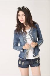 Korean Autumn Jeans Diamond Jacket Blazer